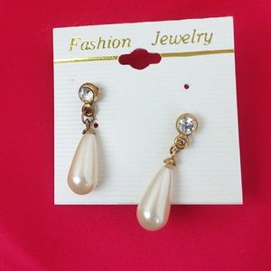Vintage Dazzling Sparkle White Drop Earrings